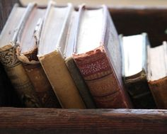 old, weathered and beautiful books