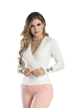 BLUSA FONSECA  DEL CATALOGO DE ROPA TYT 12419 (copia) White Jeans, Pants, Fashion, Full Sleeves, Trouser Pants, Moda, La Mode, Women's Pants, Fasion