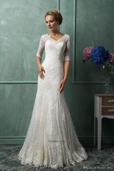 Western Wedding Dresses, Formal Dresses For Weddings, Modest Wedding Dresses, Formal Wedding, Wedding Dress Styles, Bridal Dresses, Wedding Gowns, Lace Wedding, Event Dresses