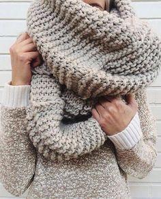 ad390a4f774e Vêtements Femmes, Tricot Et Crochet, Foulards, Écharpes Infinies Épaisses,  Écharpe Surdimensionnée,