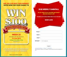 Win $100 on this weekly giveaway!