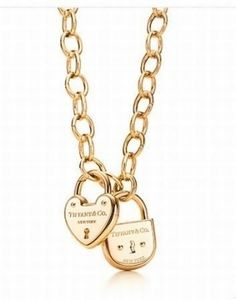 Tiffany Lock Heart Necklace...love. but with a more dainty chain