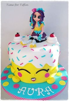 Ever after high meets the Shopkins - cake by Time for Tiffin The Effective Pictures We Offer You Abo Shopkins Birthday Cake, Shopkins Cake, 7th Birthday, Birthday Cakes, Cupcakes, Cupcake Cookies, Candied Orange Peel, Cocoa Cookies, Vanilla Recipes