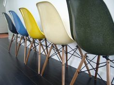 Eames shell chairs restored