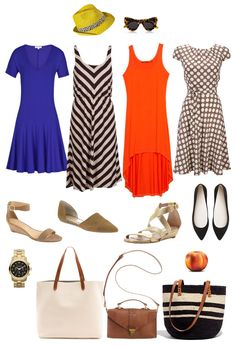 Ensemble: Breezy Dress and Sandals for Mom on the Go - YLF