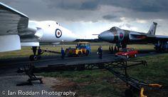Vulcan B2's XM603 & XH558. B.Ae. Woodford 1990