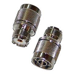 SO-239 UHF Female Jack to N Male Plug Adapter Ham Radio Nickel Ham Radio, Brass Metal, Conductors, Plugs, Plating, Female, Corks, Ear Plugs