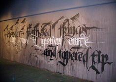 calligraffiti - http://www.webdesignfact.com/2013/03/examples-of-wall-calligraffiti.html