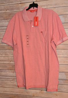 MEN`S IZOD OXFORD POLO GOLF SHIRT COLOR: CRANBERRY SIZE: XL SHORT SLEEVE POCKET #IZOD #PoloRugby