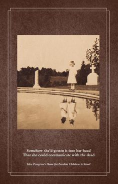 Miss Peregrine's Home for Peculiar Children. LOVED. this book. Next Harry Potter, mark my words.