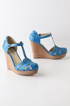 Fabriella T-Straps #anthropologie  What do you think?  Too blue?