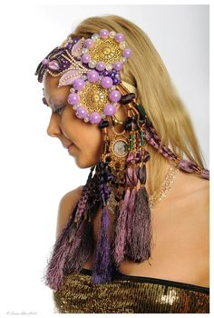 Tribal Fusion Belly Dance Headdress DeLuxe by DancingTribe on Etsy, $210.00