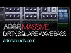 NI Massive Tutorial:Dirty Square Wave Bass for Deep House And Garage Tracks
