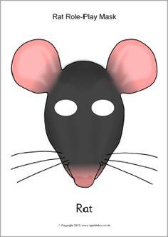 Rat role-play masks (SB9962) - SparkleBox