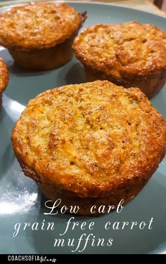 Low carbohydrate diet 105764291236333744 - Low-carb, paleo, grain-free muffins that are guilt-free and so good for you. They're free from wheat flour, conventional oil and sugar-free. Source by Low Carb Chicken Recipes, Healthy Low Carb Recipes, Low Carb Dinner Recipes, Low Carb Desserts, Healthy Snacks, Lunch Recipes, Healthy Eating, Keto Recipes, Healthy Muffins