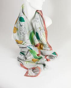 silk scarves small run production, pin-hem Scarf Display, Kerchief, Layered Skirt, Pattern Cutting, High End Fashion, Silk Painting, Silk Scarves, Scarf Styles, Allura