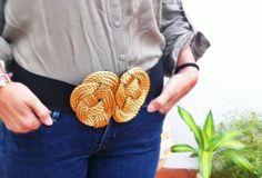 Cinturón nudos en color dorado. Disponible en el color que quieras! 22€ https://www.facebook.com/pages/Vaitiare/615059035213019
