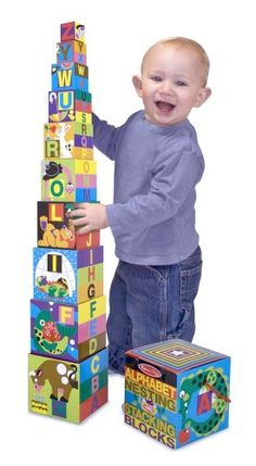 Melissa & Doug Alphabet Nesting and Stacking Blocks (Developmental Toys, Easy Storage, 10 Cardboard Nesting Boxes, Great Gift for Girls and Boys - Best for and 4 Year Olds) Quiet Toddler Activities, Toddler Toys, Baby Toys, Kids Toys, Kids Playsets, Infant Activities, Alphabet For Toddlers, Blocks For Toddlers, Toys For 1 Year Old