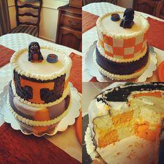 A Perfect Plan (@aperfectplan4u) on Instagram: #birthdaycake #tennessee #orangecreamsicle #smokey #checkerboardcake #yum #baking #knoxville #makers #customcakes #aperfectplan