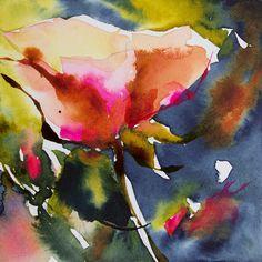 Petit instant N° 202 - Painting, 10x10 cm ©2014 par Véronique Piaser-Moyen - Peinture, Aquarelle