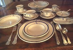 really, really want this set |us naval china with fouled anchor pattern