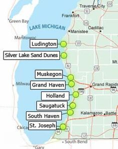 Beachtowns, Vacations and Packages Near the Beaches of West Michigan | Pure Michigan...just travelled this route in years past...relaxing