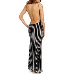 Black/White Striped Maxi