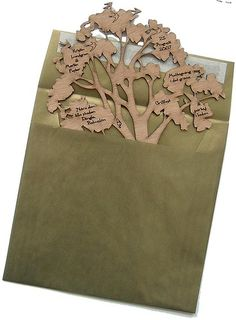 laser cut tree invite