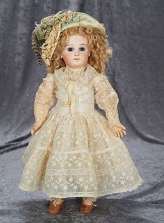 """20"""" French Bisque Portrait Bebe, Size 8, by Emile Jumeau with Original Early Body 4000/6500"""