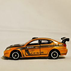 TAKARA TOMY TOMICA Street Car Japan Race Sport Auto LEXUS IS F CCS-R 107 Vehicle Diecast Orange & Black Color