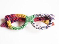 glass frames ... knit ...