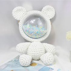 Super cute bear bag Size : 29x40cm (this is the finished size , but what we sell is diy material packing ) Special gifts:For friends, girlfriends, and yourself. Crochet Diy, Crochet Bear, Crochet Hooks, Color Style, Plastic Mesh, Coral, Diy Ribbon, Cute Bears, Cloth Bags