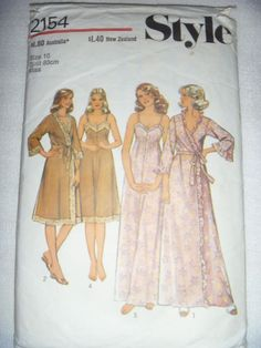 STYLE SEWING PATTERN NO. 2152 -SIZE 10- MISSES  NEGLIGEE
