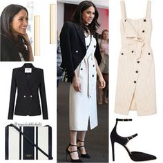 Meghan Markle Style! Dress: Altuzarra (£1,450); Jacket: Camilla and Marc ($699); Shoes: Tamara Mellon ($475); Bag: Oroton ($245); Jewels: Maison Birks earrings ($375) . Do you like her outfit? #britishroyalfamily #britishroyals #meghanmarkle #instaroyals #instafashion #meghanmarklestyle #royalstyle #royaladdicted2fashion