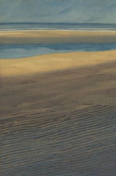 Léon Spilliaert, Marine. Plage à marée basse (Seascape. Beach at low tide)1909, ink, pencil, gouache and watercolor on paper, 73,9 x 51,3 cm, Royal Museums of Fine Arts of Belgium, Brussels