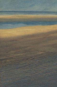 Léon Spilliaert, Marine. Plage à marée basse (Seascape. Beach at low tide)1909, ink, pencil, gouache and watercolor on paper, 73,9 x 51,3 cm, Royal Museums of Fine Arts of Belgium, Brussels