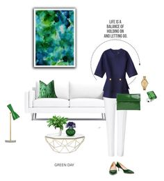 """green day- fashion and interior mix"" by cly88 ❤ liked on Polyvore featuring interior, interiors, interior design, home, home decor, interior decorating, Americanflat, ESCADA, Derek Lam and Marni"