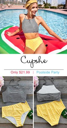 Treat yourself to something special. Only $21.99 makes you the shinest star of poolside party. Unique style! Comfortable fabric! Faster shipping! Shop now on Cupshe.com !