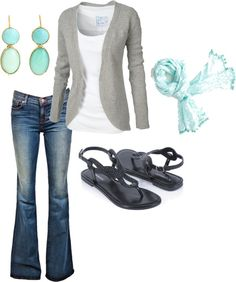"""grey and blue"" by fosterwf on Polyvore. Fall"