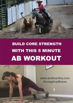 Build core strength with this 5 minute ab workout. Try this total body strengthening exercise routine using strength slides you can do from home. Horse rider fitness starts before you get to the barn. 5 Minute Abs Workout, Total Ab Workout, Butt Workout, Workout Plans, Horse Exercises, Horse Riding Tips, Up Fitness, Better Posture, Horseback Riding