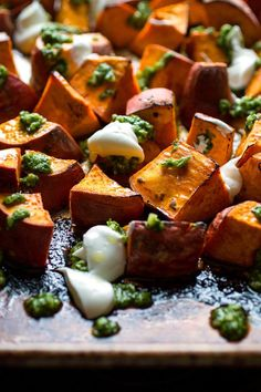 NYT Cooking: In this luscious vegetable dish, velvety sweet potatoes get a spicy jolt from a chile-spiked cilantro sauce spooned on top. Greek yogurt adds a creamy element and a bit of protein if you're serving these as a vegetarian main course. As a side dish, they are satisfying yet not the least bit heavy, thanks to the bright flavors of the sauce. You can make the sauce u...