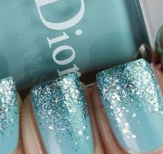 Christmas Nails Art - Tantalizing Turquoise - Click pic for 25 Christmas Holiday Crafts DIY
