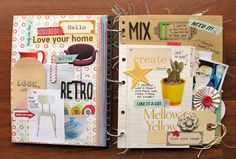 Kim Watson CK Weekly Warm Up: Make a Mini Book (using Fancy Pants Designs Brag Book and Be You)