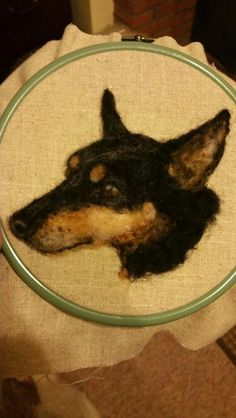Needle felted Manchester Terrier by #ChicktinCreations