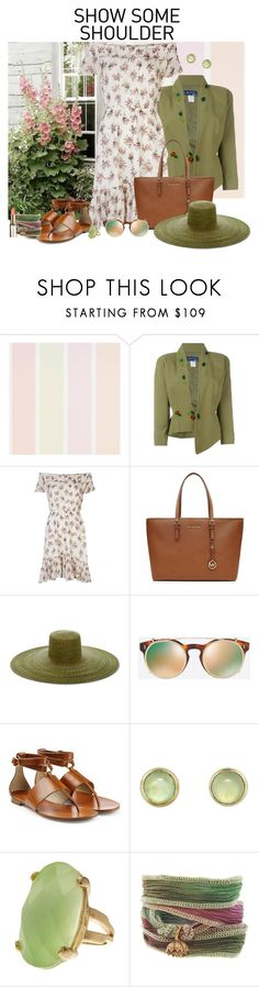 """""""Halo"""" by fiona-stanley ❤ liked on Polyvore featuring Thierry Mugler, Denim & Supply by Ralph Lauren, Michael Kors, Samuji, Valentino, Melissa Joy Manning, Rivka Friedman and Catherine Michiels"""