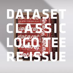 """The """"classic logo"""" tee by #DatasetClothing has been re-printed and is now shipping at feeldataset.com"""