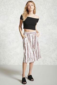 Contemporary Stripe Skirt