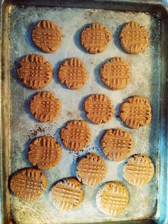 Easy Peanut Butter Cookie Recipe {Gluten Free} ONLY 3 INGREDIENTS!I make these all the time and they are better than the ones with flour in them!!