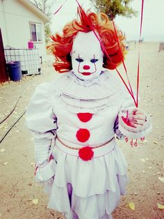 IT Pennywise costume child Stephen King Pennywise Costume For Kids, Family Halloween, Costume Makeup, Costume Halloween, Child, Cosplay, King, Art, Nice