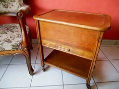 Antique Sewing Accessory Box in Oak Wood  by SecretsOfThePast